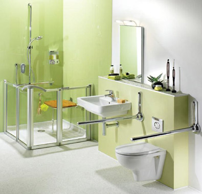 Level access showers open and walk in showers leeds for Bathroom designs elderly